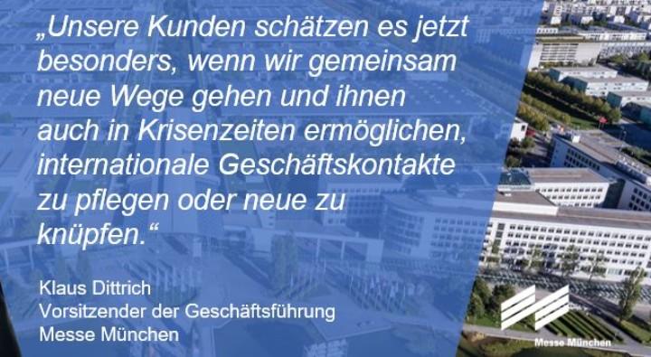 Klaus Dittrich, Vorsitzender der Geschäftsführung der Messe München