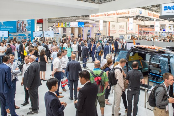 Trade fair hall at automatica