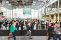The rush of visitors on the first trade fair day