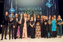 Jury Members and Winners of the INHORGENTA AWARD 2018 with CEO Klaus Dittrich