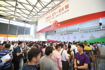 Crowded entrance at transport logistic China