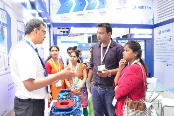 Visitors and exhibitors at IFAT India