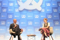 Nobel Peace Prize laureate and former US President Barack Obama in conversation with Britta Weddeling, Editor in Chief Bits & Pretzels