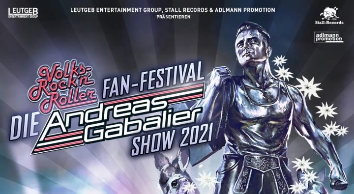 Plakat des Andreas Gabalier´s Volks-Rock'n'Roll Festival auf dem Münchner Messegelände