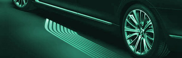 Car with welcome light