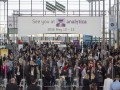 Throngs of visitors on the opening day of analytica