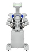 The double-arm robot WorkSense W-01 has multisensory capabilities and should prove itself particularly in the production of small lot sizes