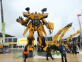 A highlight at bauma China's outdoor exhibition area: The life-size Transformer robot by LOVOL.