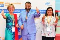 (left to right) Petra Westphal, Exhibition Group Director drinktec worldwide, Bhupinder Singh, CEO Messe München India and Avisha Desai, Project Director dti, are pleased with the results of dti-South.