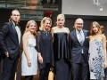 The INHORGENTA MUNICH 2016 started with the glamorous JEWELRY SHOW with top model Nadja Auermann—on the stage with actor Ralf Bauer, model Vanessa Fischer, Exhibition Director INHORGENTA MUNICH Stefanie Mändlein, Klaus Dittrich Chairman & CEO Messe München GmbH and model Cathy Hummels.